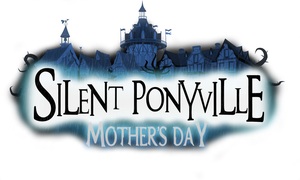 Silent Ponyville Mother's Day title card by Shadowpredator100