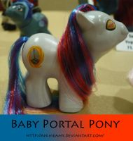 Baby Portal Pony by AnimeAmy