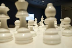 All White Chess Board by Simplicitiser