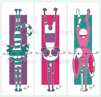 Stretchy animal kei Bookmarks by kinkei