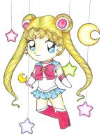 sailor moon chibi color by darkminako1