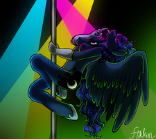 Pole Dancing -Luna- by Flikkun