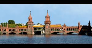 Railway Bridge Over The River Spree In Brlinie by skarzynscy