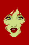 Red and Green - Poison Ivy by LaggyCreations