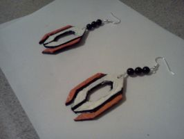 Cerberus Logo Earrings by LadyIlona1984