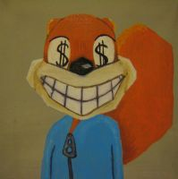 Conker's bad fur day painting by paintmeaperfectworld