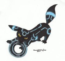 Shiny Umbreon in the Grid by sakkysa