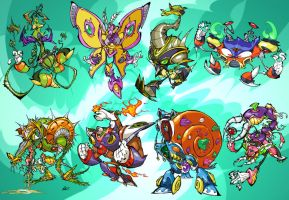 Megaman X Bosses - Part 2 by BrendanCorris
