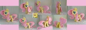 Fluttershy plushie for myself :3 by moggymawee