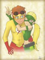 Kid Flash and Artemis by Chipiron