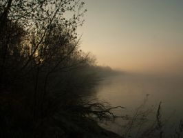 River and fog ... no. 5 by Gumista