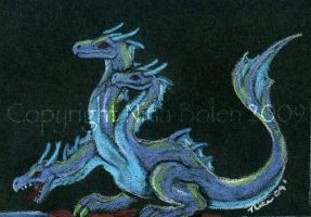 Hydra Dragon ACEO by The-GoblinQueen