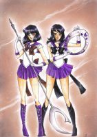 C: Super Sailor Saturn and Sailor Silence by Toto-the-cat
