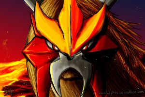 Entei by LilyRox