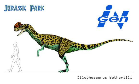 Jurassic Park - Dilophosaurus by March90