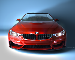 BMW M4 Coupe RED by Artsoni3D