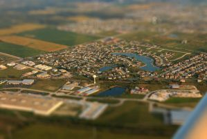 Aerial-View City Tiltshift by Mulsivaas