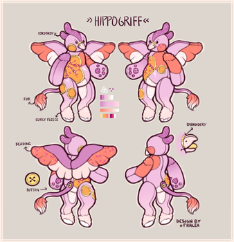 Plushie Hippogriff Ref by fralea
