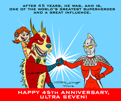 Happy 45th Anniversary, Ultra Seven by ryuuseipro