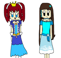AT: Miss Halo Princess Idol and Snow Idol Wing by angelthewingedcat