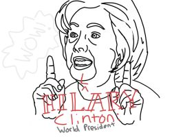 Hillary Clinton: World President by TheBronze1