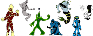 Ben 10 collage WIP by Endeavor4ever