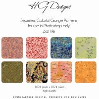 Colorful Grunge Seamless Patterns by HGGraphicDesigns