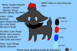 Shadow The Zorua Ref Sheet by Spicy-Cinnamon