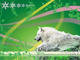 Nature Wolf Wallpaper by lagunarok