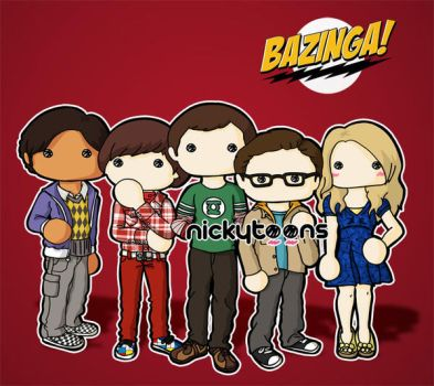 the Big Bang Theory by NickyToons