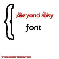 'Beyond Sky Font by aworldofmagic