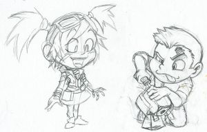 Summer of Sketches: Gaige and Axton by LastRyghtz
