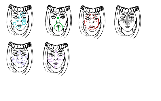 Vakne Face Markings by Nikai-Nocturne
