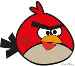 Red Angry Bird by TheCatwhodesign