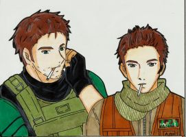 Comision por puntos:Piers and Chris cigarette time by LeonandClaireBSAA