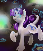 Rarity's magic by xephier321