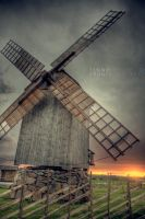 Windmill Sunset II by Jno-J