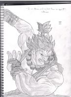 Akuma The Master of The Fist by Pythagasaurus