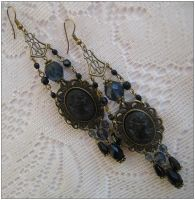 Rhapsody in indigo - earrings by monashierogliphica