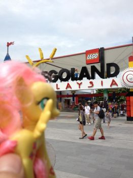 Fluttershy at LEGOland Malaysia by DON2602
