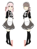 [ maid character designs ] Galatea + Elena by isi-a