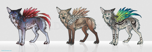 Feonix Adoptables set2 by Tatchit