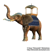 Elephant Parade 1 Png Stock by Direwrath