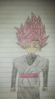 SSJR Goku Black  by primeomega97