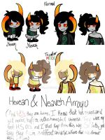 Update- Hevean and Neveah by S-K-Y-L-I