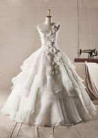 One-Shoulder-Organza-Wedding-Dress am by weodress