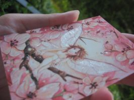 Pink Blossom Pixie print enhanced angle by JoannaBromley