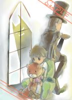 PROFESSOR LAYTON POSTCARD NO1 by PAPAWS
