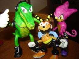 Team Chaotix Clay Toys by ViluVector