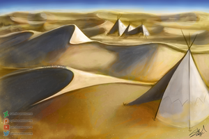 Dunes (Scribble Challenge) by sambeawesome